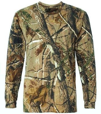 LONG SLEEVED TREE CAMO STEALTH T-SHIRT mens cotton tee all sizes hunting camping