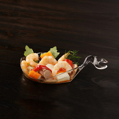 "50 Fingerfood Teller ""Poseidon"" 80 ml 15x9,1x3,5cm glasklar Catering (FI001)"