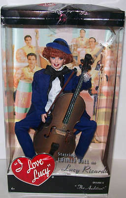 "I LOVE LUCY Barbie Doll ""THE AUDITION"" with Cello Episode 6 2007 NEW Damaged Box"