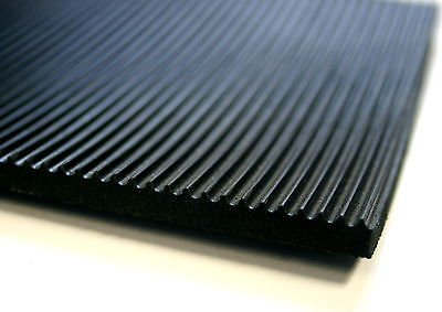 Ribbed Rubber Matting 6Mm Thick Anti Slip Various Sizes