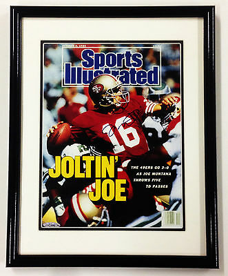 Joe Montana Framed Autographed October 2, 1989 Sports Ill. Cover Upper Deck Auth