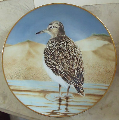 SANDPIPER  THE TWELVE WATERBIRD PLATES THE DANBURY MINT ORIGINAL BY ERIC TENNEY
