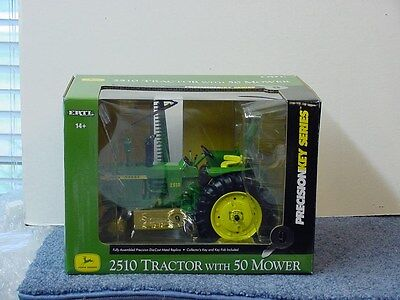 JOHN DEERE 2510 PRECISION TRACTOR with 50 MOWER, 1/16, DIE CAST