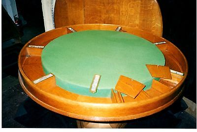 Antique Saratoga Casino Gambling Table POKER TABLE**GAMING TABLE**Collectible