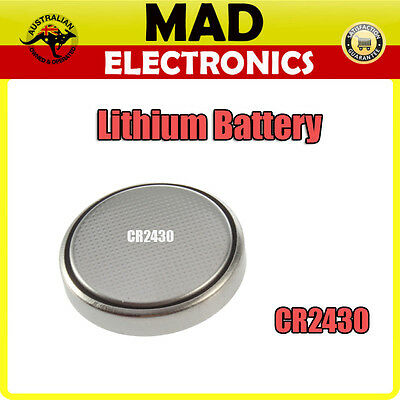 CR2430 Lithium Button Cell Battery 3V for Watch Thermometer Calculator and More
