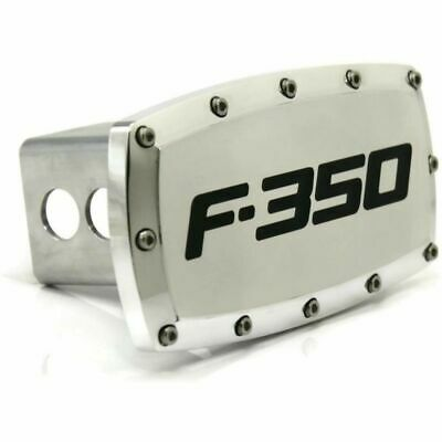 "Ford F-350 2"" Tow Hitch Cover Plug Engraved Billet Aluminum"