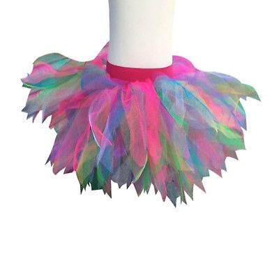 Neon Tutu Skirt Rainbow 80S Fancy Dress Party Costume Hen Party 80'S Festival