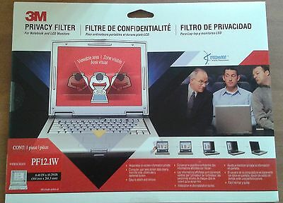 3M Notebook/LCD Privacy Monitor Filter for 12.1 Widescreen PF12.1W *BRAND NEW*
