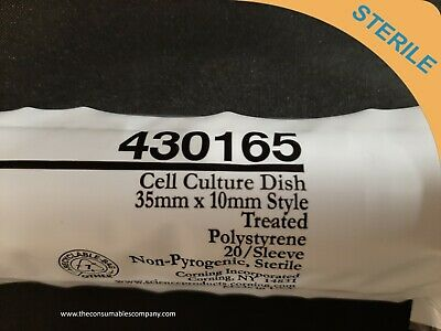 35mm Petri Dish Polystyrene Sleeve of 20 Corning 25050-35 Suspension Culture