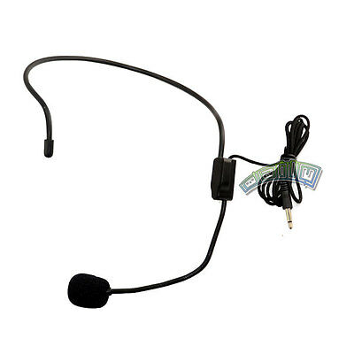 3.5mm Headset Mic Boom Microphone Operator Style Over the Head For PC Tablet