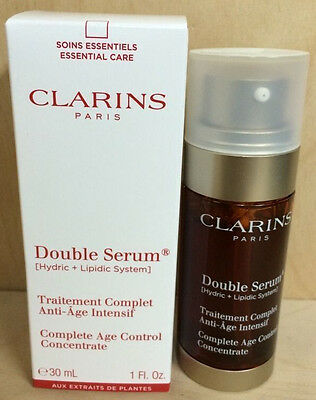 Clarins Double Serum Complete Age Control Concentrate 1oz tester NIB(109130)