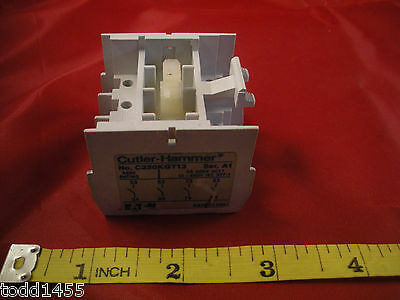 Cutler Hammer C320KGT13 Series A1 Auxiliary Contact Block Switch 6a 600V Nnb New