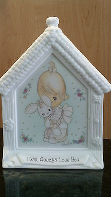Precious Moments Girl With Bunny Standing Plaque #130168  NIB