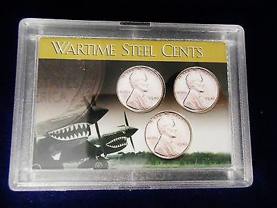 WORLD WAR II STEEL PENNY CENT COIN FLYING TIGERS FROSTY CASE, 2x3