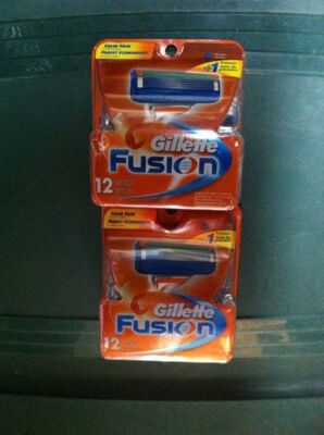 Lot Of 2 Gillette Fusion Blades 12 packs Cartridges 100% original new in box