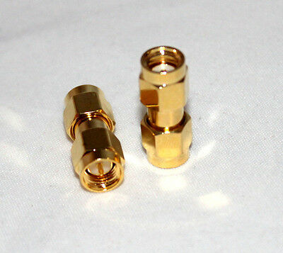 SMA male to RP-SMA male RF coaxial adapter (US Stock; Fast Ship)