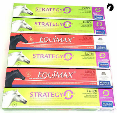 Premium One Year Horse Wormer Rotational pack Strategy T (4) + Equimax (2)