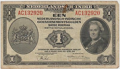 (MP7)1943 Netherlands 1 EEN NetherlandSCH-indie note