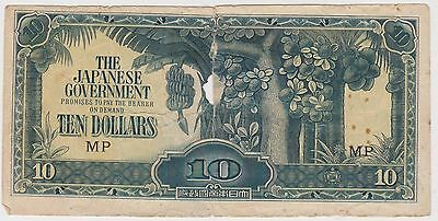 (MP10) 1940 Japan $10 invasion money (B)