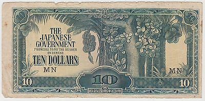 (MP11) 1940 Japan $10 invasion money (C)
