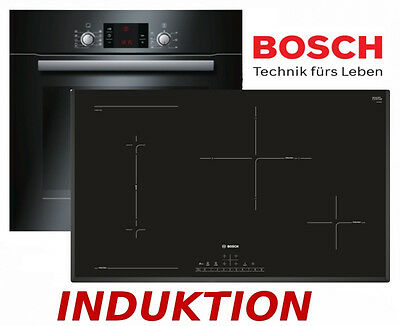 bosch herdset induktion backofen schwarz induktion kochfeld 80cm breit neu ovp eur. Black Bedroom Furniture Sets. Home Design Ideas