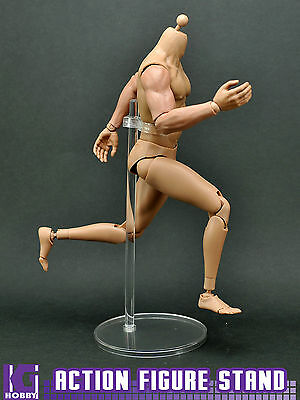 Clear/Black Display Stand for 1/6 hot toys Action figure man blythe doll model
