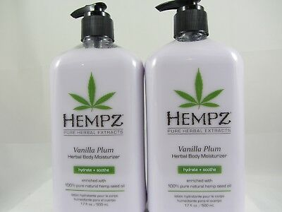 2 PACK - HEMPZ HERBAL VANILLA PLUM MOISTURIZER AFTER Tanning Lotion by Supre
