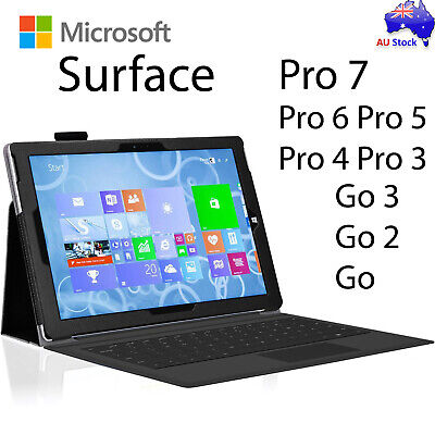 NEW Premium Leather Case Cover Protector for Microsoft Surface Pro 6 | Go Pro 4
