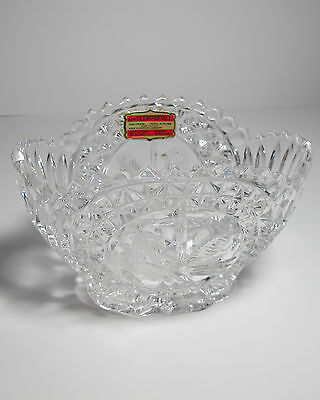 Lovely Echt Bleikristall 24% Lead Crystal Made in West Germany Bird Dish Bowl