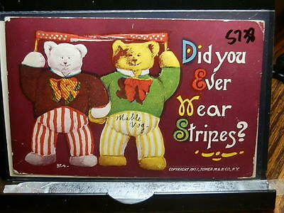 #5738,Two Bears Dressed in Strips,1907