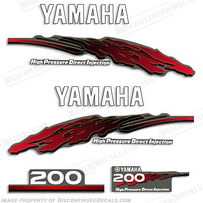 Yamaha 2001 Outboard Motor Decal Kit 200hp HPDI - Marine Grade Decals 4S 200