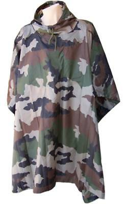 Poncho lluvia impermeable RipStop camuflaje CCE - Woodland francés MILTEC