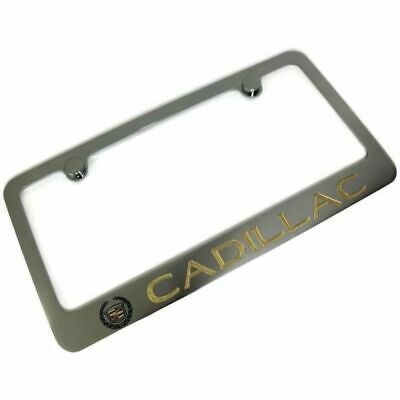 CADILLAC ATS LICENSE Plate Frame Chrome Plated Brass Hand Painted ...