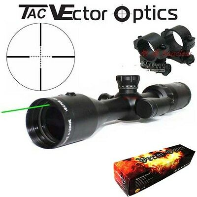 Vector Optics Shockwave Tactical 4-12x42 Green Laser Rifle Scope 1 Inch Monotube