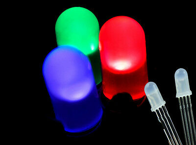 100PCS  Tri-Color 5mm 4 pin RGB Diffused Common Anode Light Emitting Diode LEDs