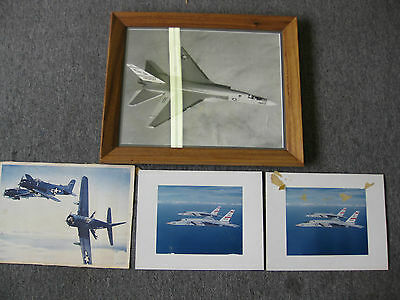 Mixed Lot of 4 Miliarty Photos, 1 with Frame