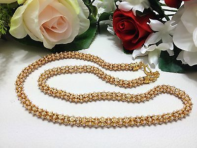 Indian Asian Bridal Bollywood Party Ethnic Wear Pearl Mala Necklace Length:10.5""
