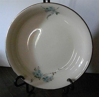 5 LENOX SPECIAL PATTERN COUPE SOUP BOWLS BLUE FLOWERS