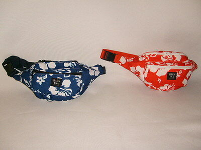 fanny packs hawaiian print large,3 compartments/waist or belly bag,made in U.S.A