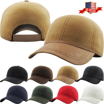 Solid Plain Wool Felt Polo Style Baseball Ball Cap Hat 100% Wool Cold Winter NEW