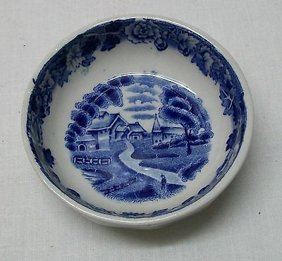 Enoch Woods English Scenery Wood and Sons England Blue and White Small Bowl
