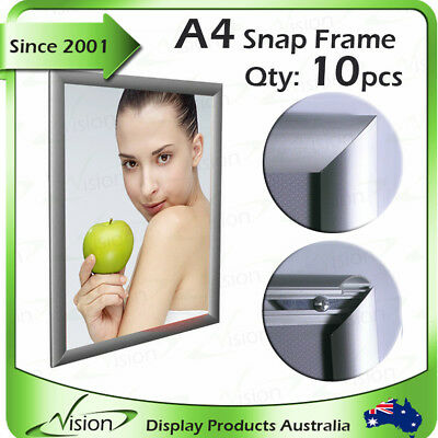 10 x A4 silver snap frame / poster frame /clip frame - A4 Poster - FREE SHIPPING