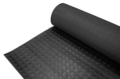 Penny/stud Style Rubber Garage Floor Matting - 1.5M Wide X 3Mm Thick