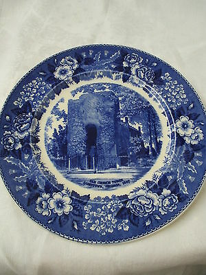 Vintage England Old Staffordshire Ware Adams Plate Old Church Tower Jamestown