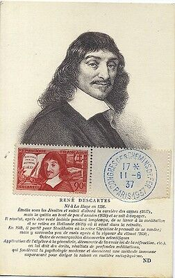 Carte-maximum France n° 341 - René Descartes (26268)