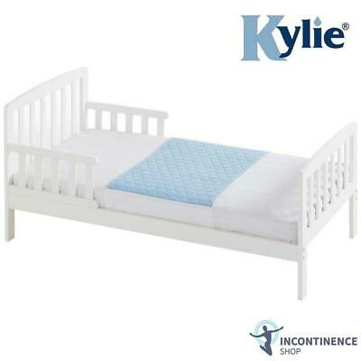 Kylie Junior Bed Pad - Blue - 2 Litres - Absorbent Bed Protector