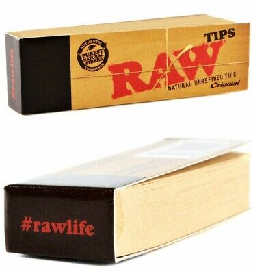 Raw Classic Natural Unrefined Tips - Original Authentic Purest Fibers Roach