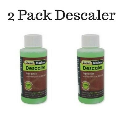 Coffee Machine Cleaner Descaler 100ml x 2 Bottles Nespresso  Breville Delonghi