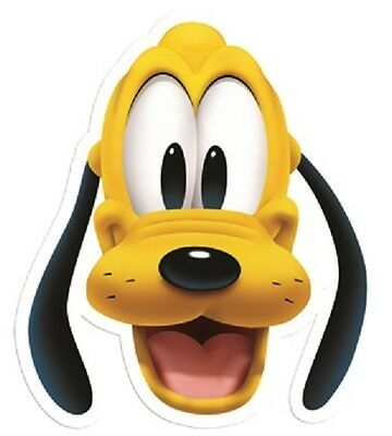 Pluto Disney Single 2D Card Fun Face Mask. Great for Children's Parties & Events
