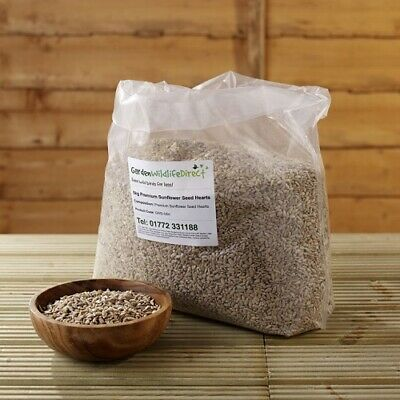 5Kg Premium Sunflower Hearts Bakery Grade for Wild Birds / Garden Bird Seed / Fe